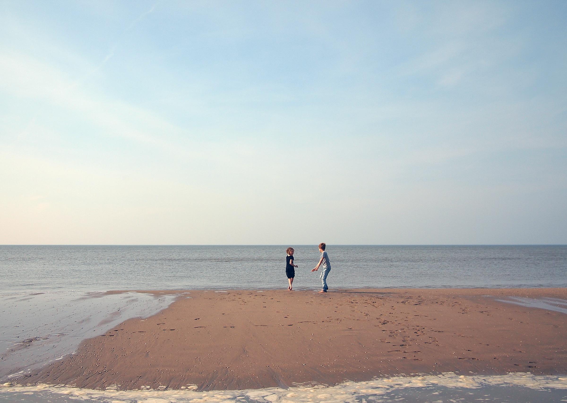 fototapeta dzieci na plaży